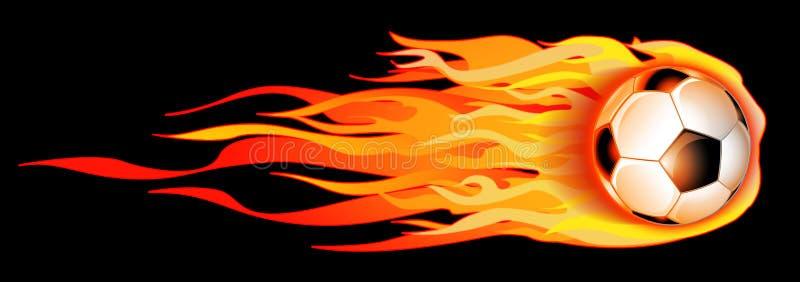 Flaming Soccer Ball Illustration stock image