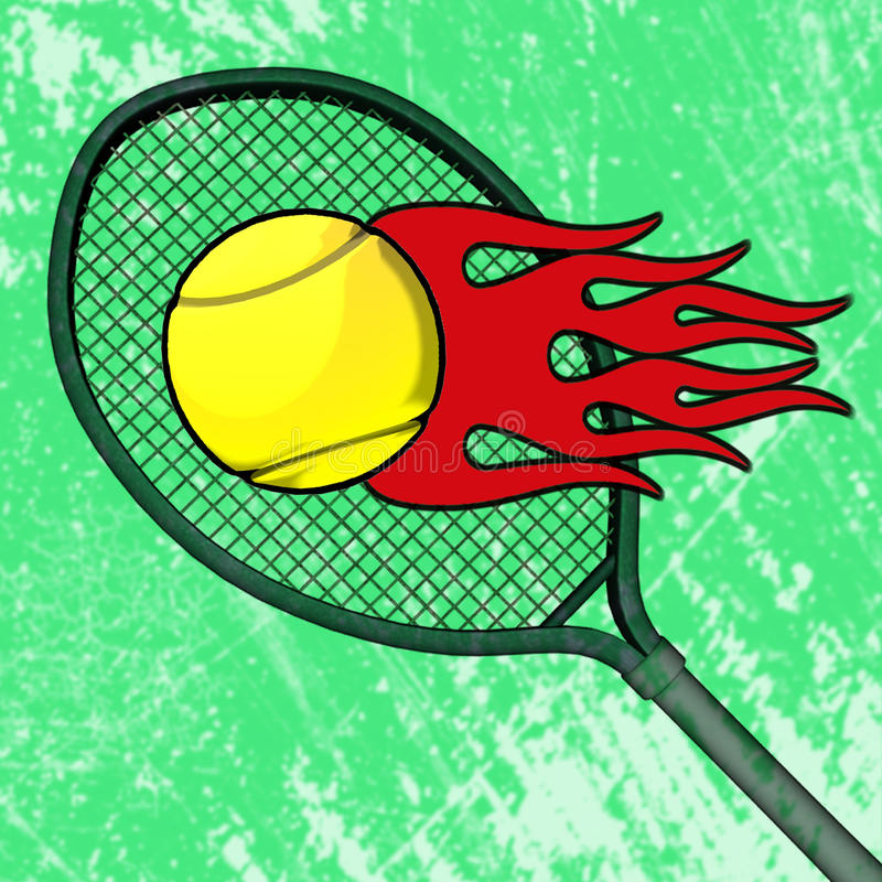 Download Flaming Tennis Ball stock illustration. Image of burn - 35996119
