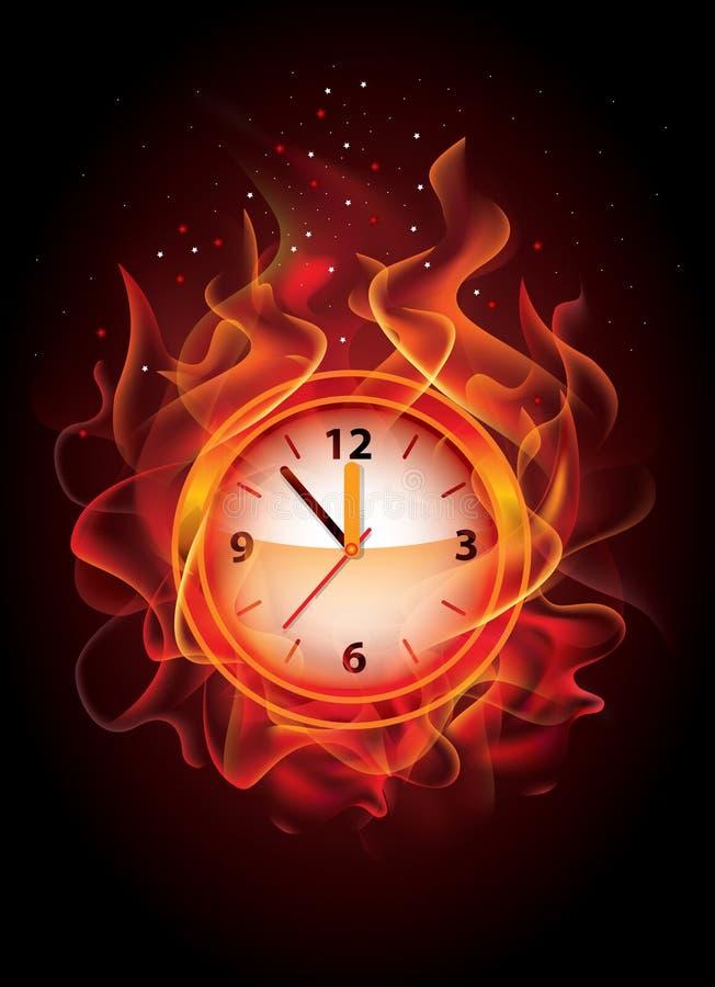 Картинки горящие часы