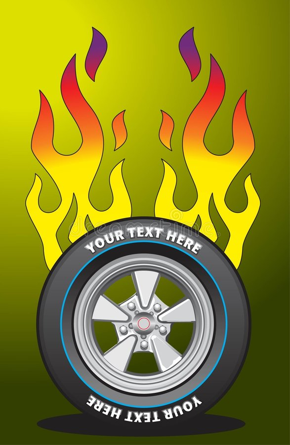 Download Flaming wheel 2 stock vector. Illustration of text, flame - 4853884