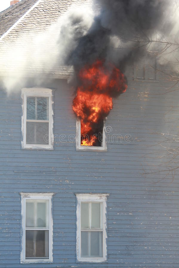 Flaming window royalty free stock photo