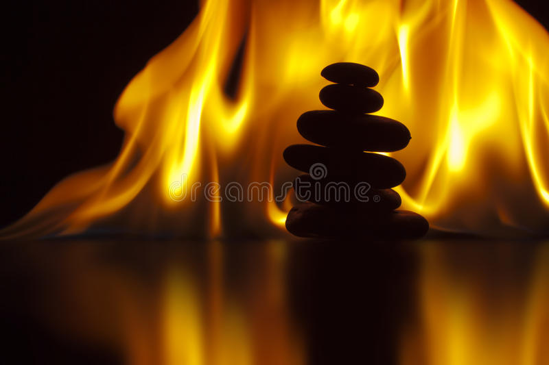 Download Flaming Zen stock photo. Image of purity, rocks, peace - 24594980