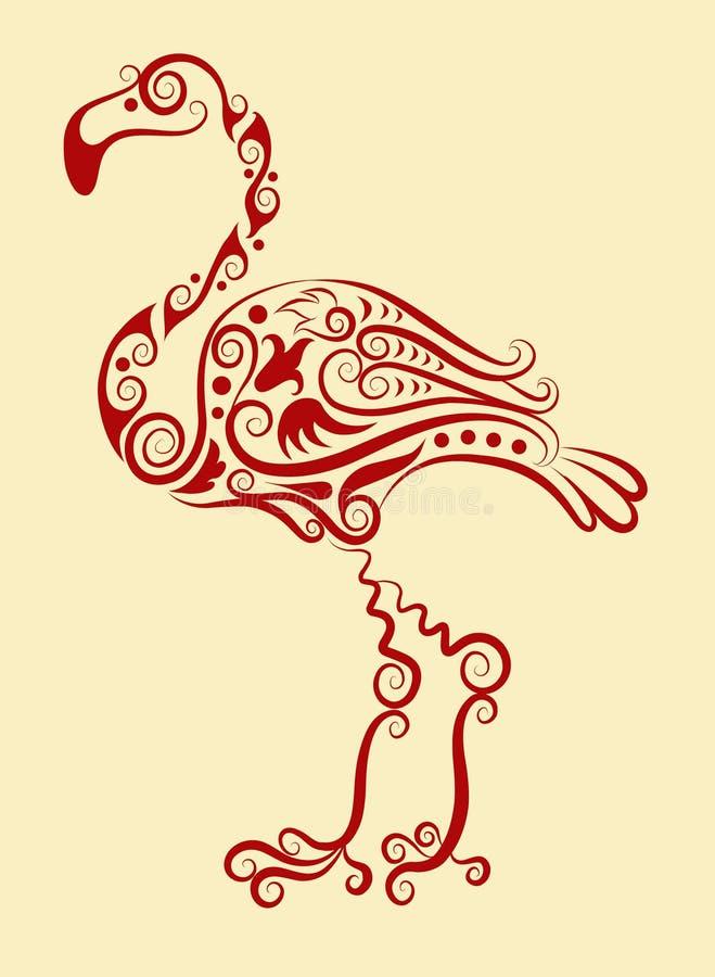 flaminga dekoracyjny ornament royalty ilustracja