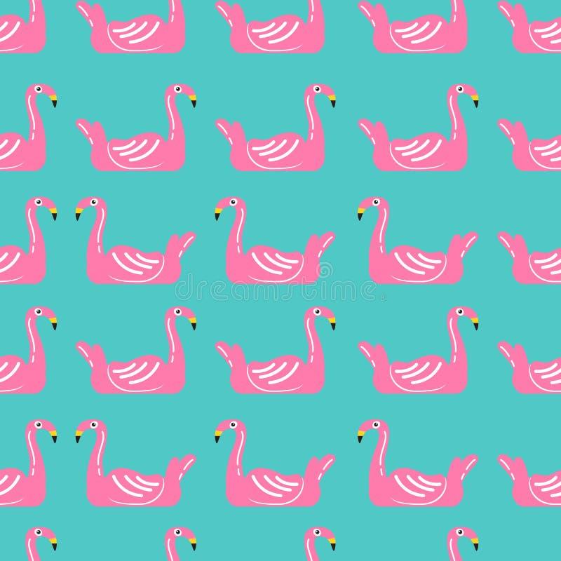 Flaminga dopłynięcia pierścionku bezszwowy wzór royalty ilustracja