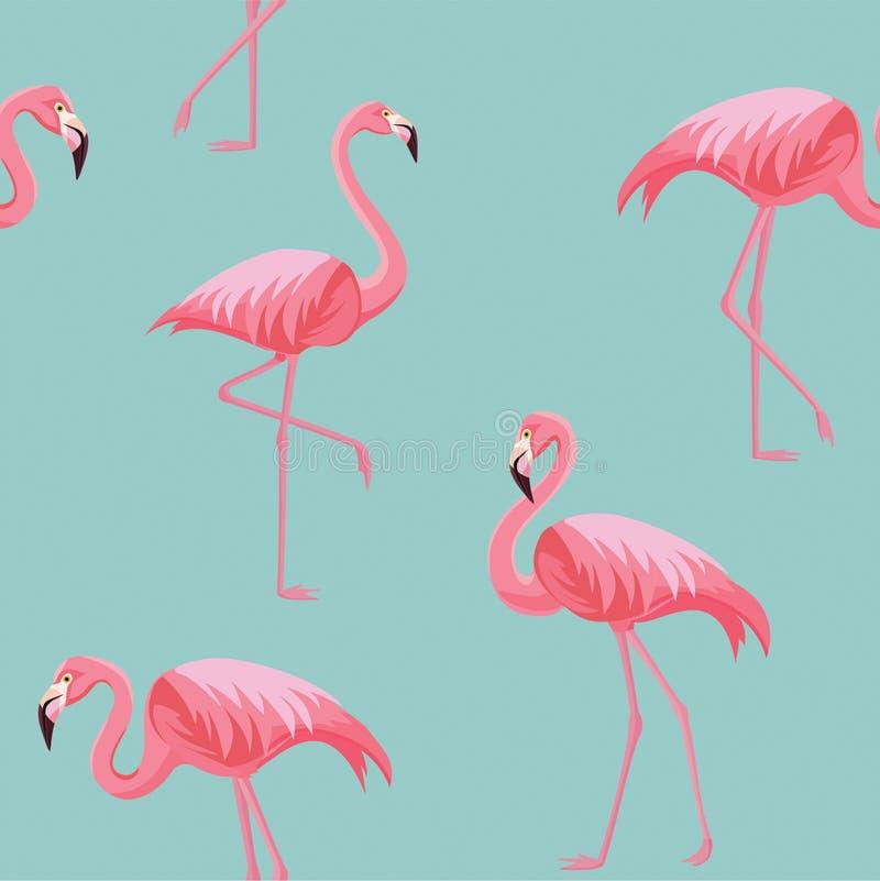 Flaminga wzór tekstura bezszwowy wektor royalty ilustracja
