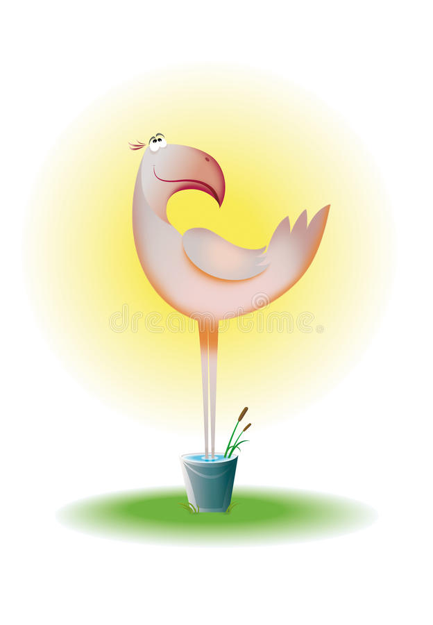 Download Flamingo stock illustration. Image of heat, pond, element - 12584807