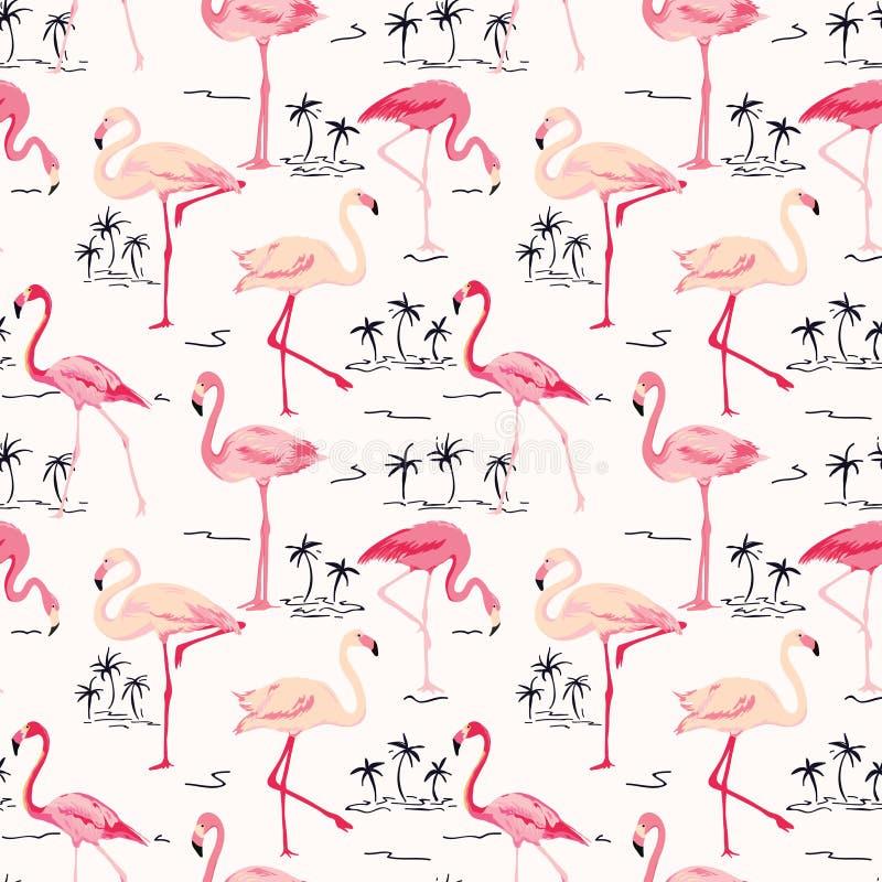 Free Flamingo Bird Background Stock Images - 54250114