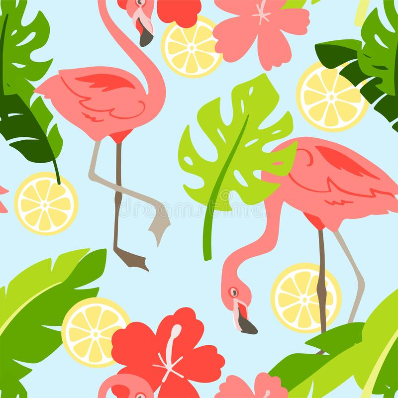 Flamingo in cartoon style vector illustration