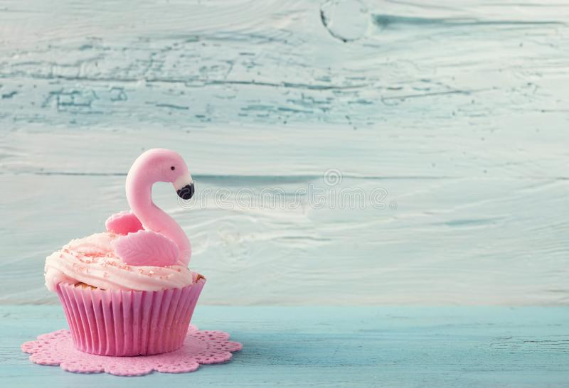 Download Flamingo cup cake stock photo. Image of food, cookie - 115966040