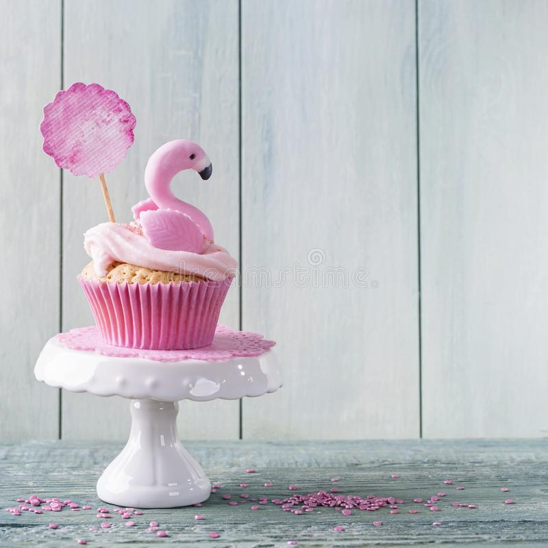 Download Flamingo cup cake stock image. Image of text, shortcrust - 115965971