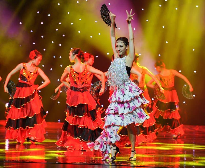 Flamingo ---A dança nacional espanhola foto de stock royalty free