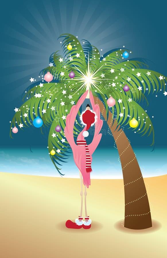 Flamingo do feriado ilustração royalty free