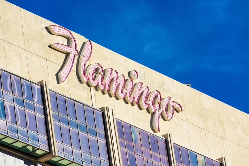 Flamingo hotel and casino resort sign stock images