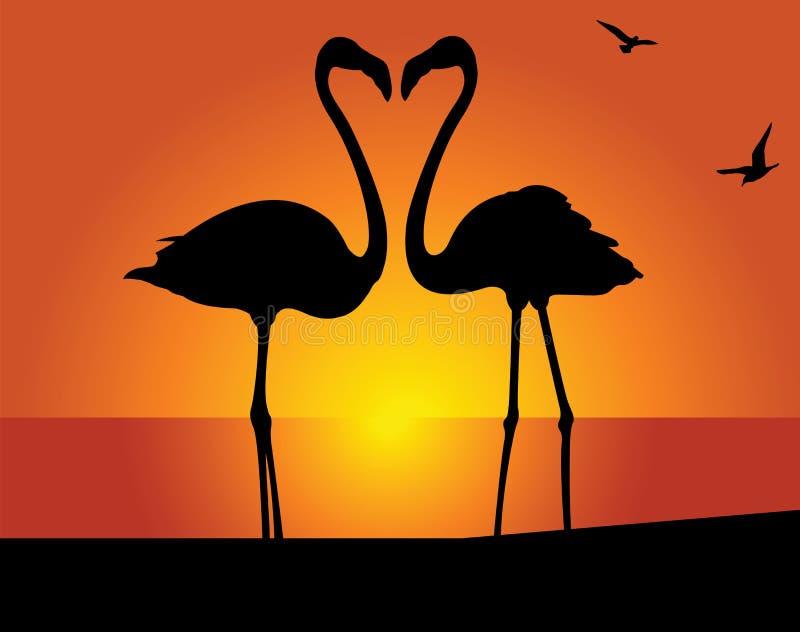 Flamingo. Kus royalty-vrije illustratie