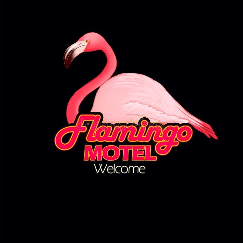 Flamingo motel royalty free stock images