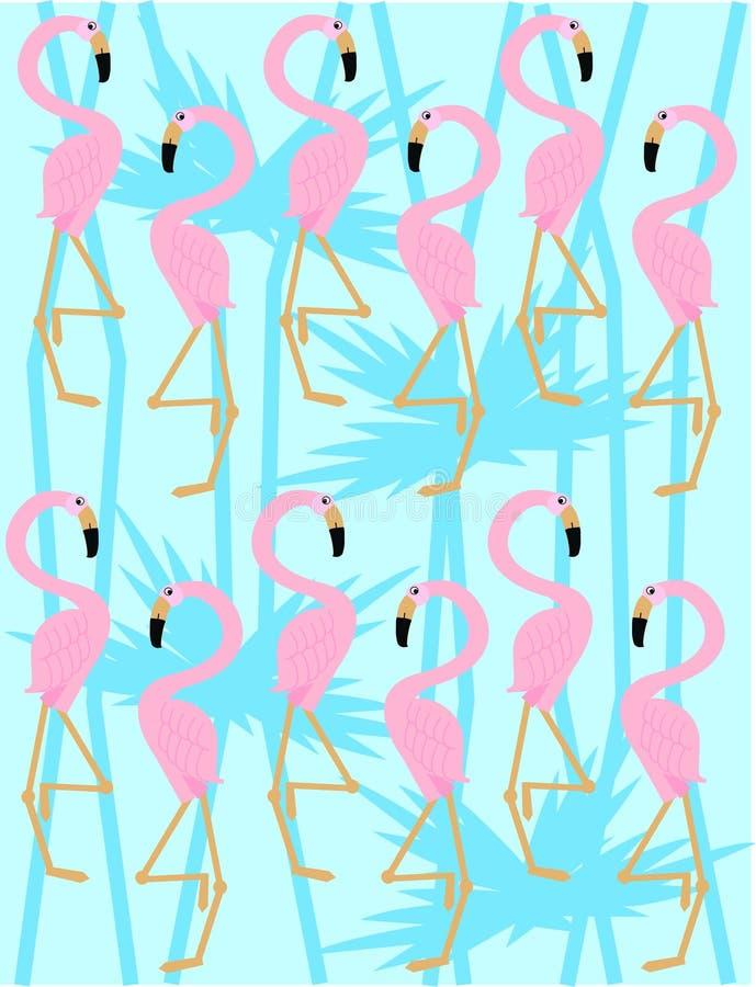 flamingo pattern stock illustration
