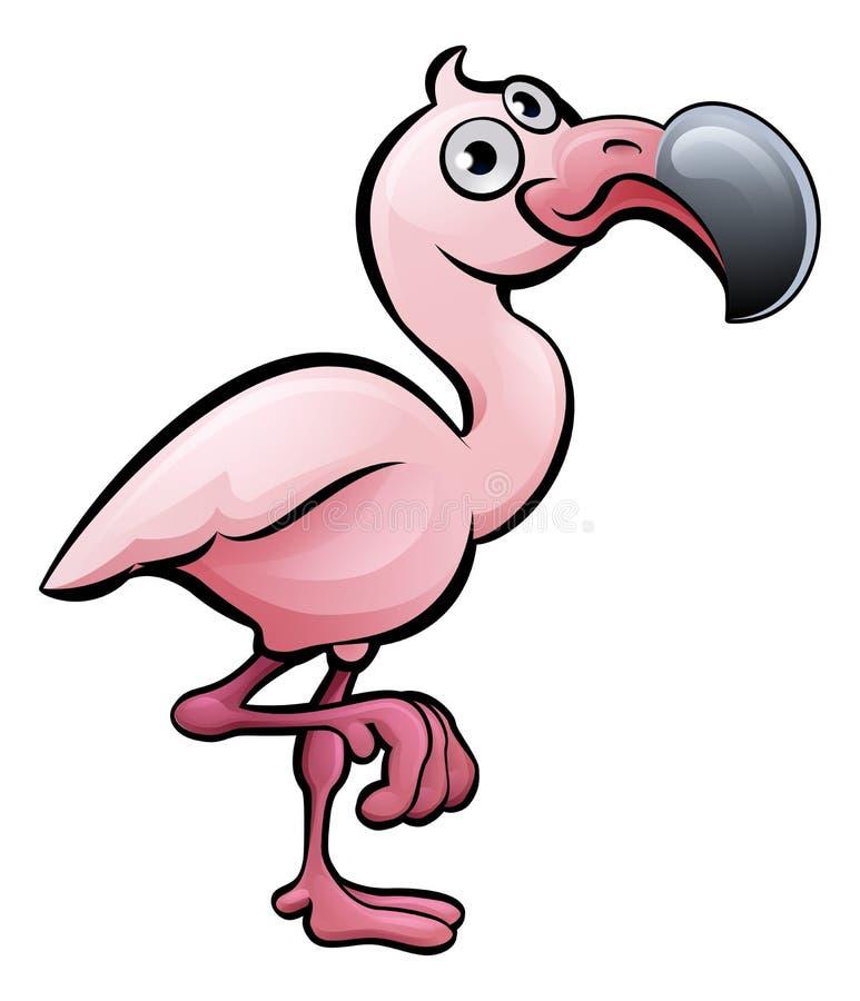 Flamingo Safari Animals Cartoon Character vektor abbildung