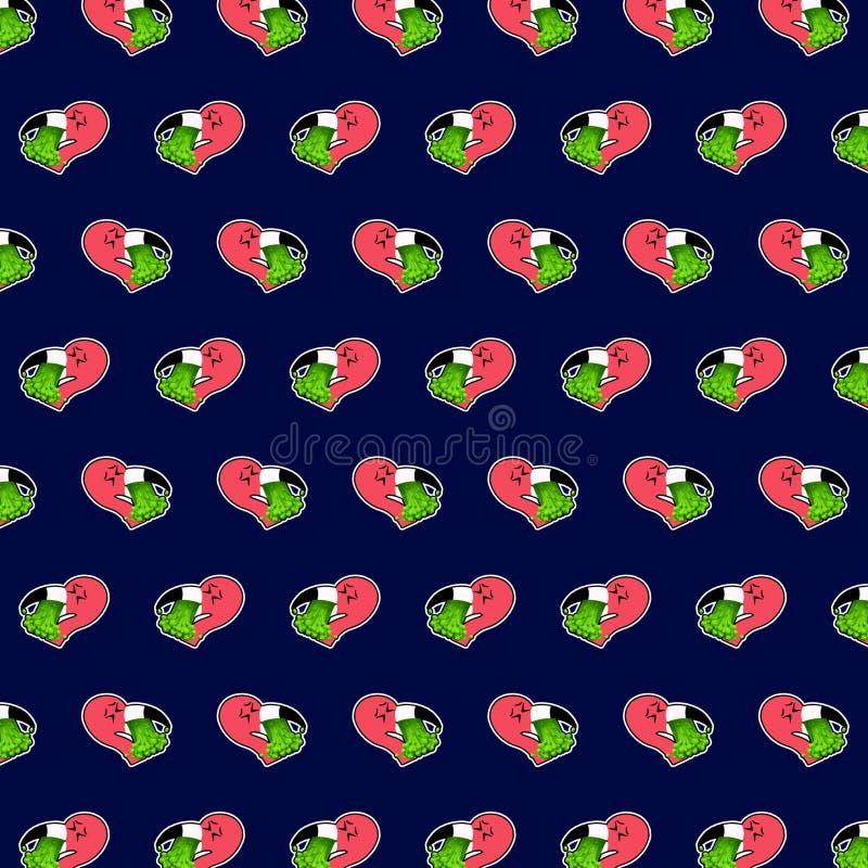 Flamingo - teste padrão 80 do emoji ilustração royalty free