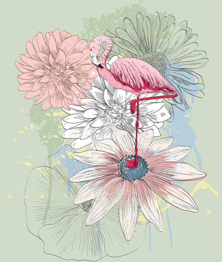 Flamingo. Vector illustration stock illustration