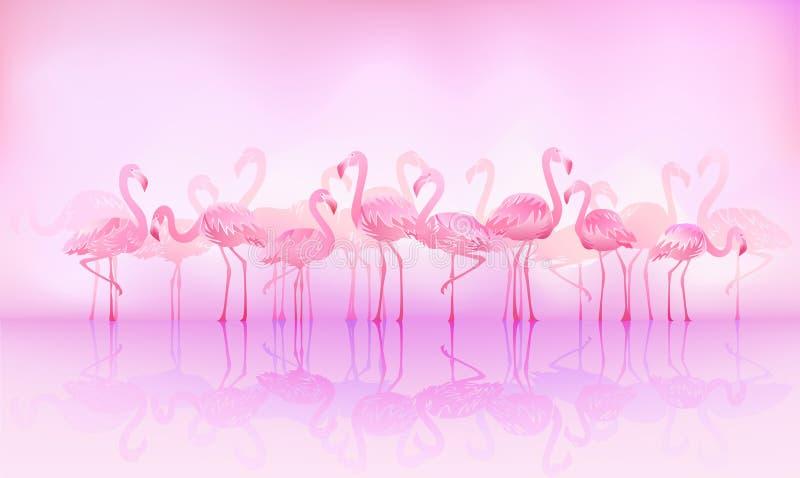 flamingos royaltyfri illustrationer