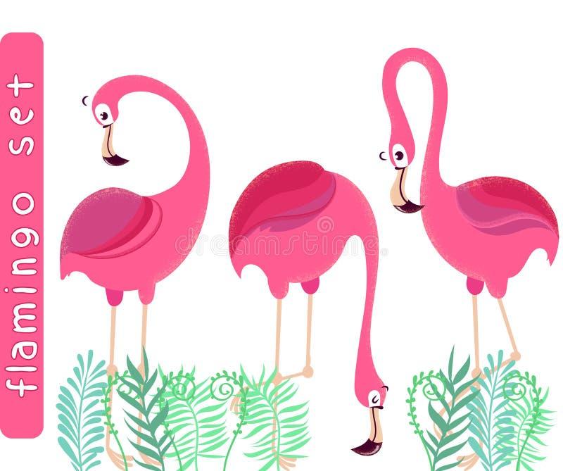 Flamingos cor-de-rosa ilustração royalty free