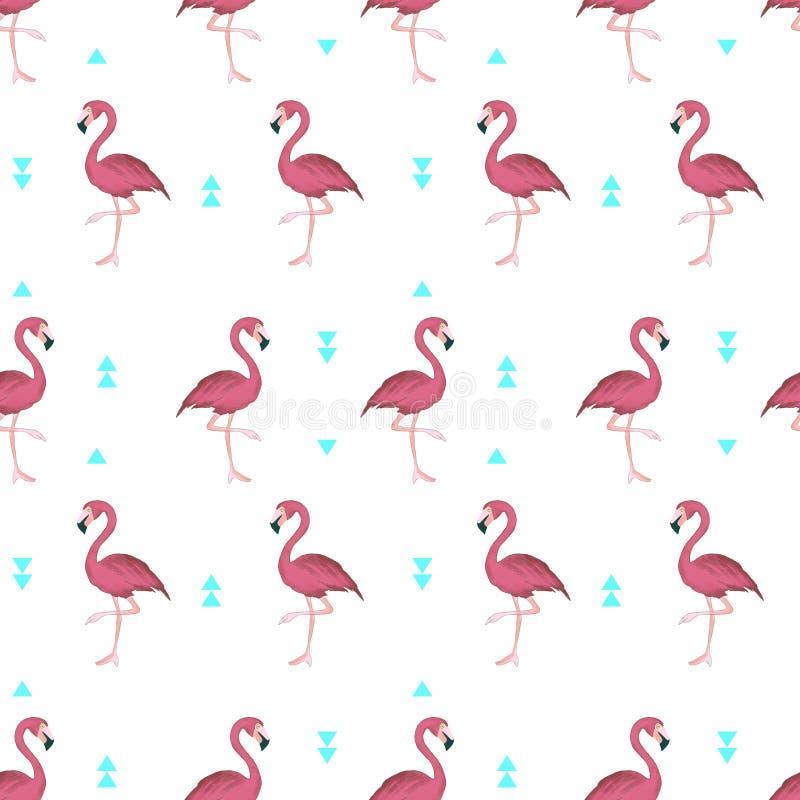 Flamingos tropicais imagem de stock royalty free
