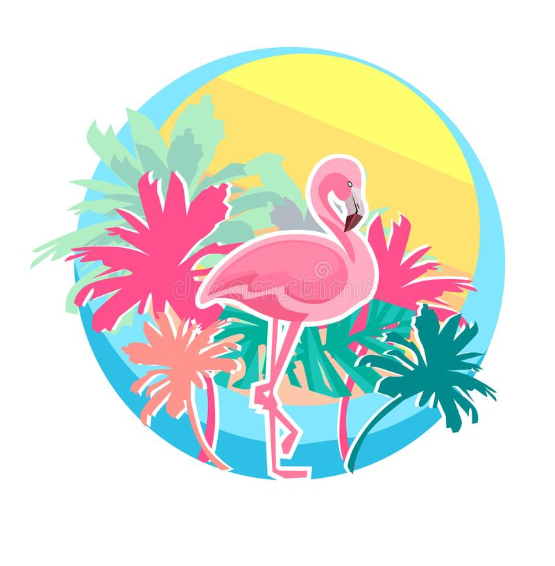 Flamingovektor royaltyfri illustrationer