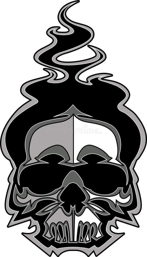 flamm bildskallevektorn royaltyfri illustrationer