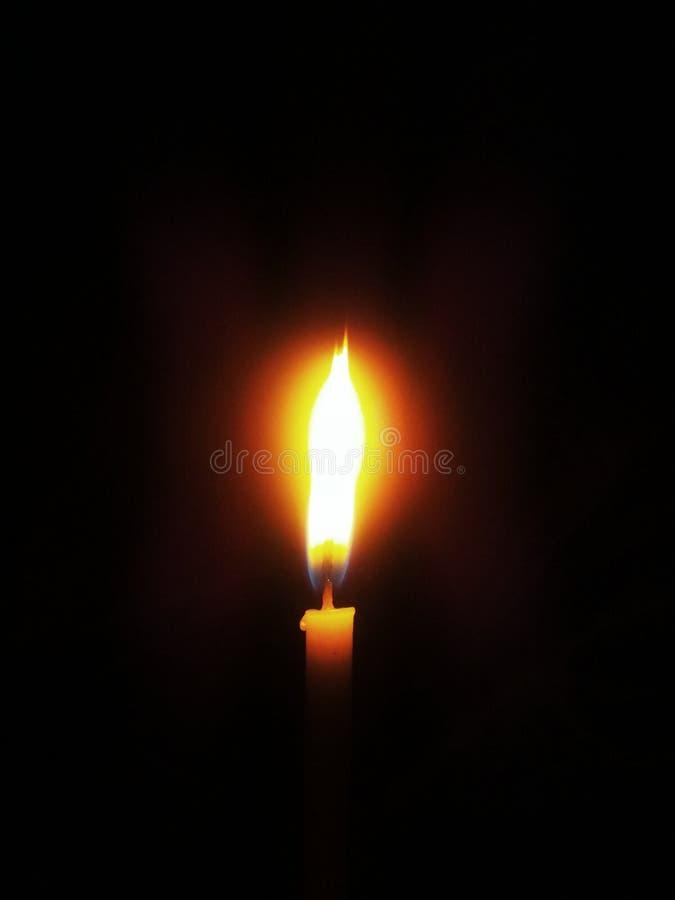 Flamma av en stearinljus royaltyfri fotografi