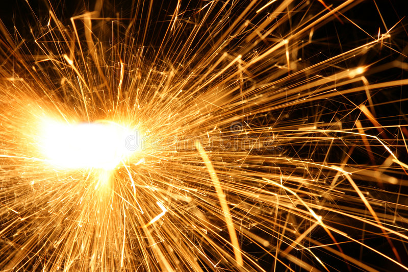 flamma sparks arkivbild