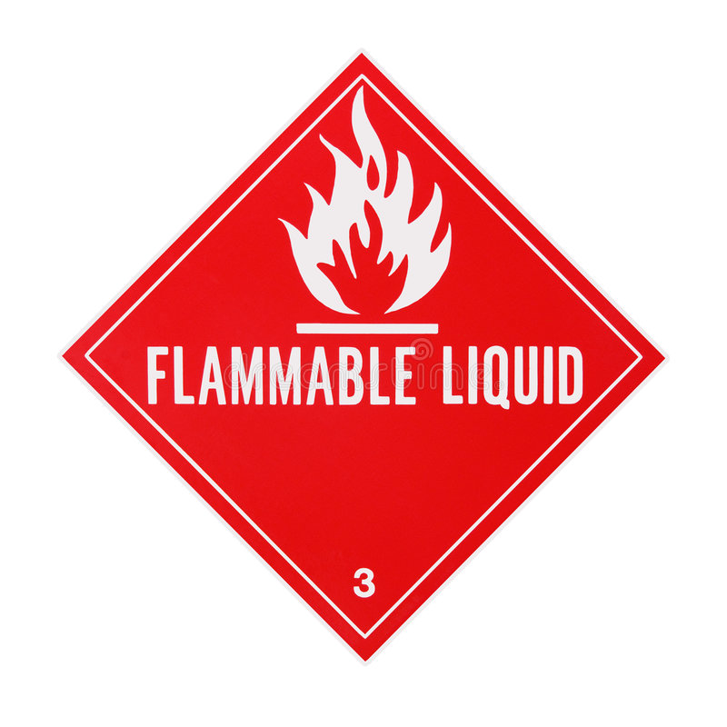 Free Flammable Liquid Placard Royalty Free Stock Photos - 4562668