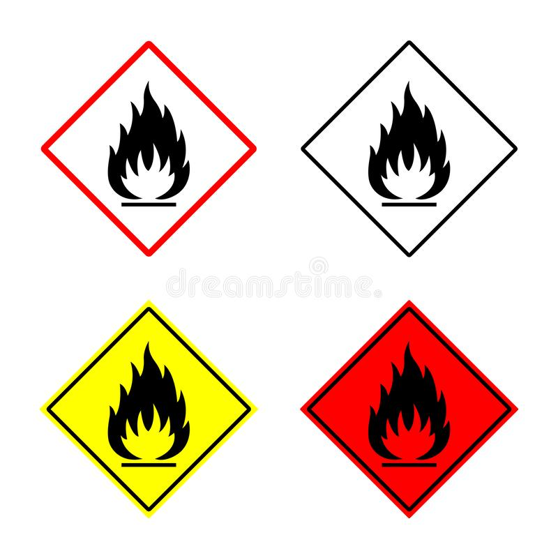 Free Flammable Sign, Fire Icon, Hazard Symbol Royalty Free Stock Photography - 141356357
