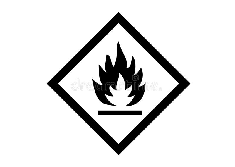 Flammable symbol royalty free stock image
