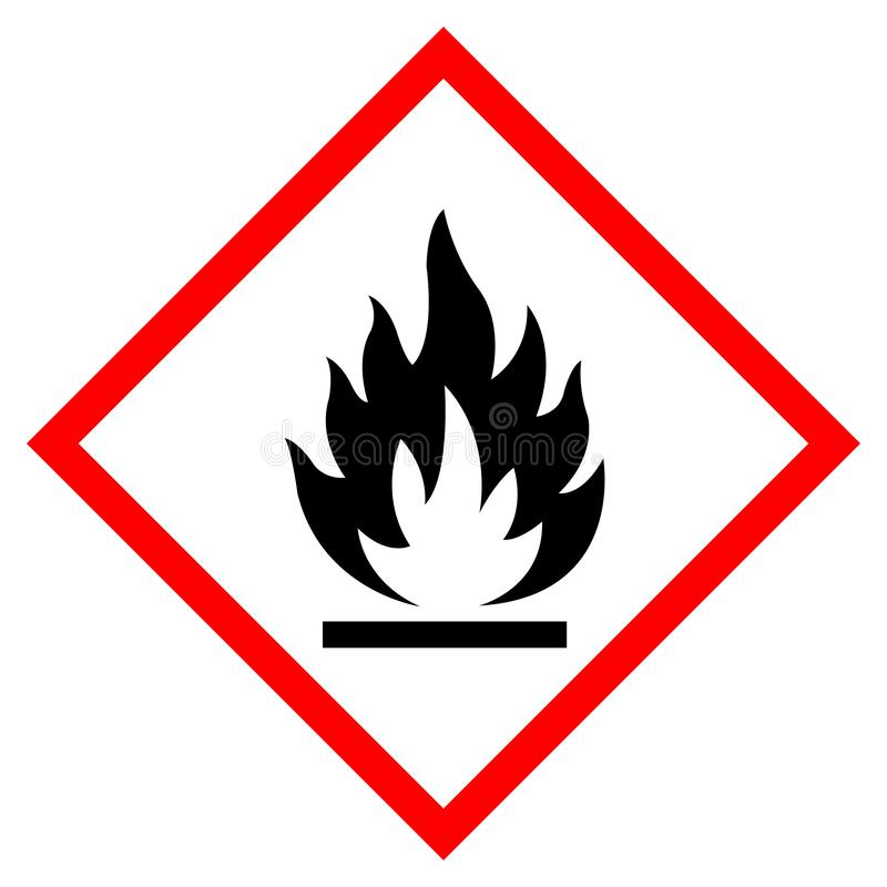 Free Flammable Symbol Sign ,Vector Illustration, Isolate On White Background Label .EPS10 Stock Photos - 149956983