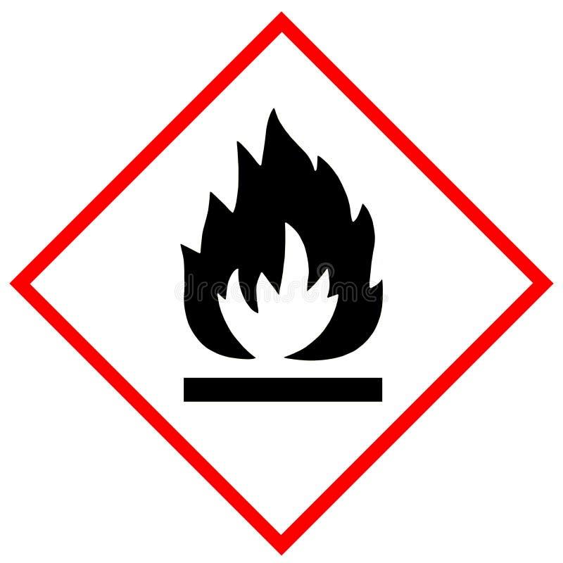 Flammable symbolu znak ilustracja wektor