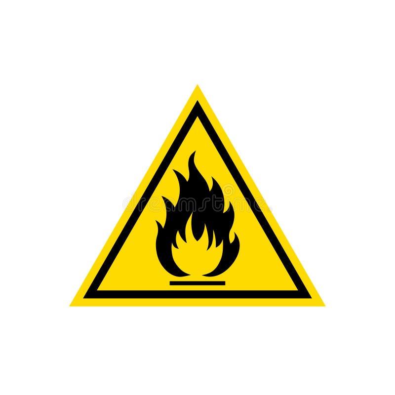 Flammable szyldowa ikona ilustracja wektor