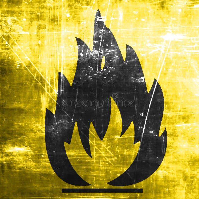 Flammable zagrożenie znak ilustracja wektor