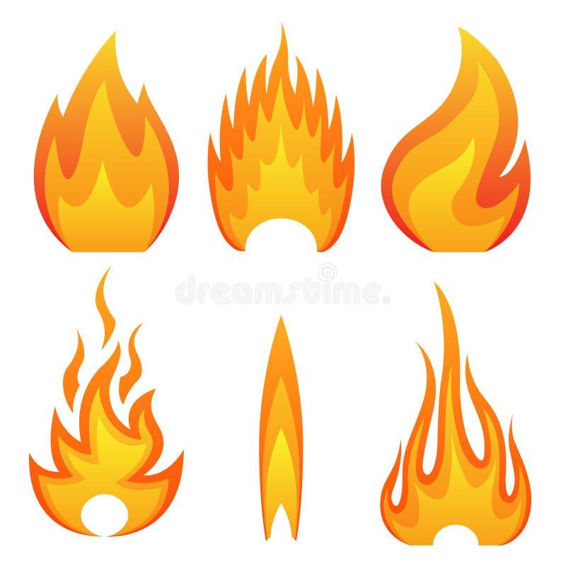 Flammabrand vektor illustrationer