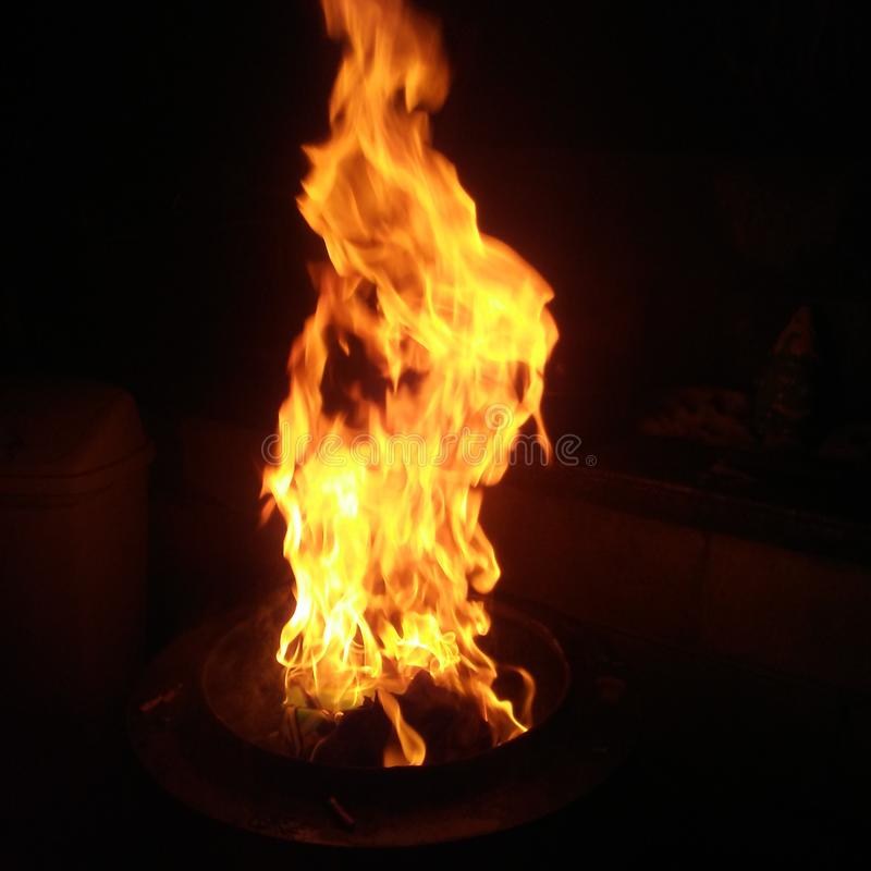 Flammage imagem de stock