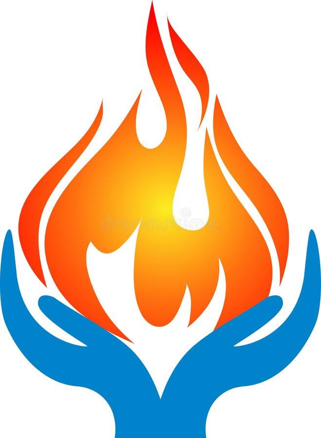 Flammahänder royaltyfri illustrationer