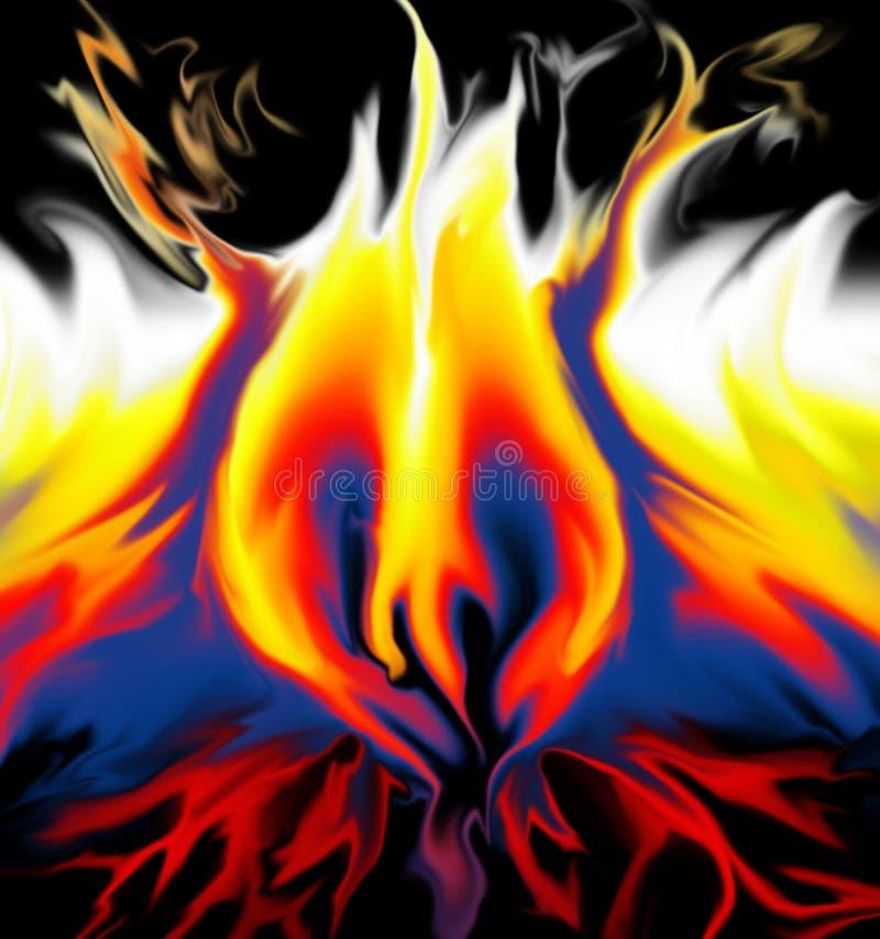 flammahjärta royaltyfri illustrationer