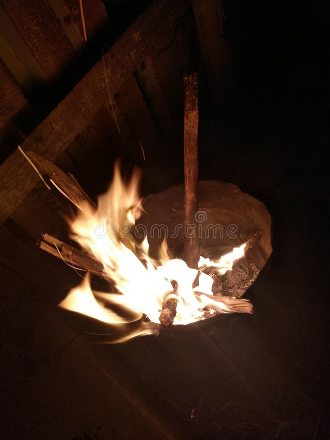 Flammajärnhink arkivbilder