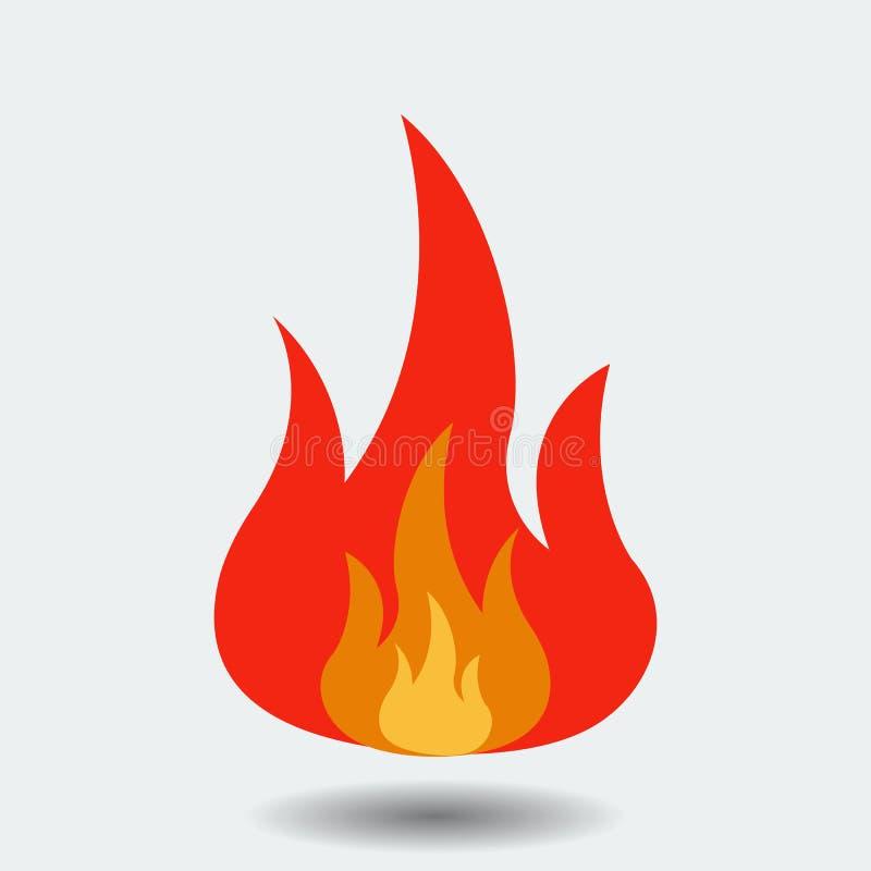 Flammalogosymbol som isoleras på bakgrund Modern plan pictogram, affär, marknadsföring, internetconcep stock illustrationer