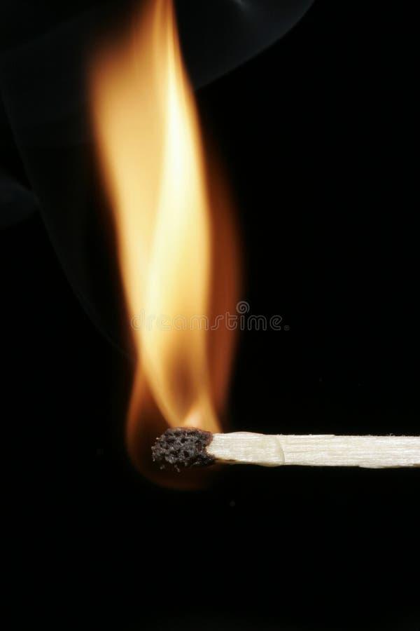 flammamatchstick royaltyfri fotografi