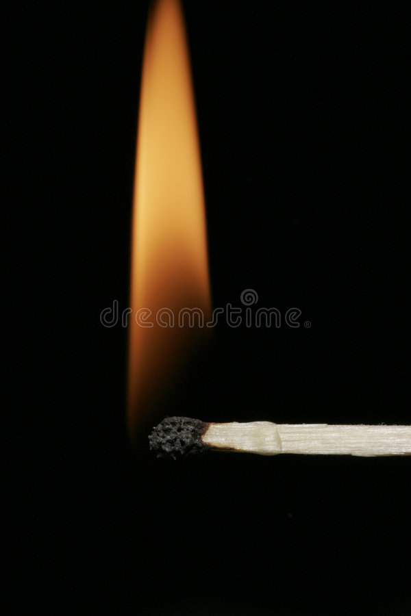 flammamatchstick arkivbild
