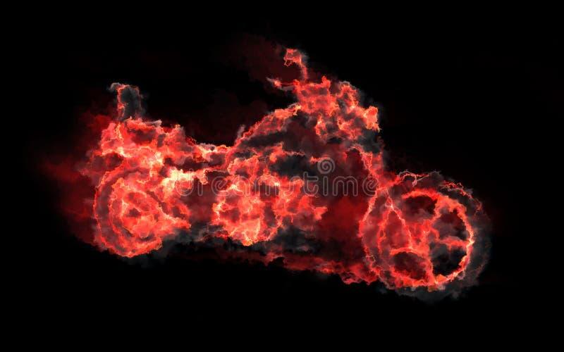 Flammande moped stock illustrationer