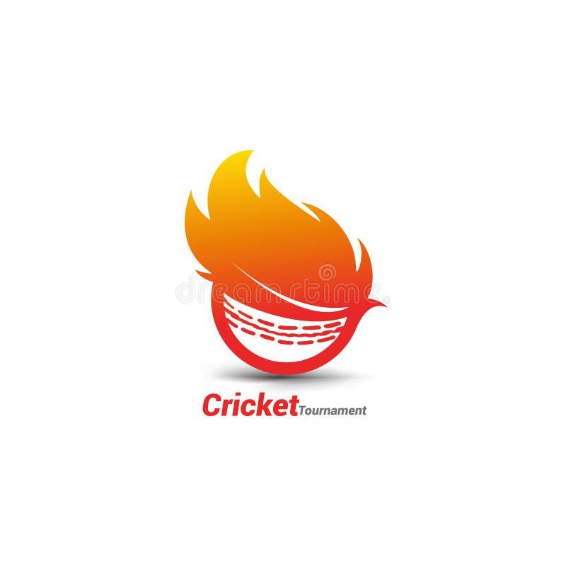 Flammande syrsaboll stock illustrationer