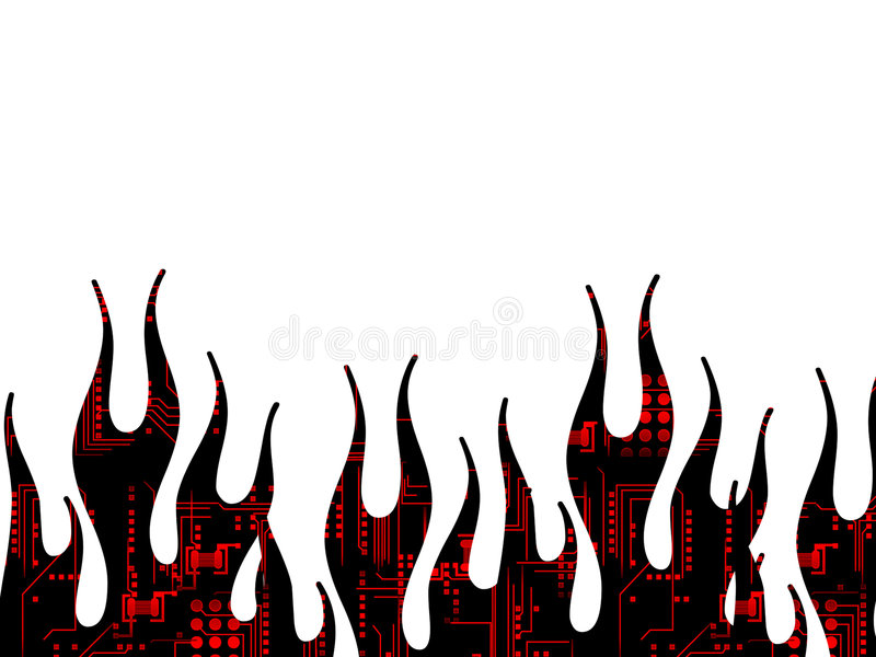 flammasidatech stock illustrationer