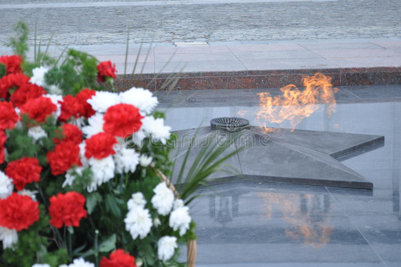 Flamme éternelle image stock