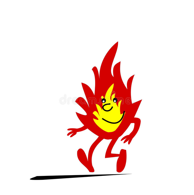 Flamme illustration stock